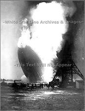 Photo: Hindenburg Aflame At Lakehurst, NJ, May 6th, 1937, Rare New View