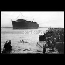 Photo B.000556 LANCEMENT PAQUEBOT SS NORMANDIE SAINT-NAZAIRE 1932 OCEAN LINER