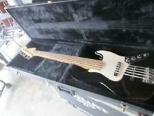 2000 Fender 5-String Jazz Bass Black/classic case/new set rotosound strings/mm