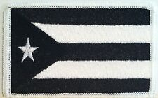 Puerto Rico Tactical Flag Iron-On Patch B & W MC ARMY  Biker Emblem