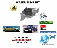 FOR AUDI COUPE CABRIOLET 2.6 2.8 QUATTRO 1991->2000 NEW WATER PUMP KIT
