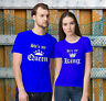 She's My Queen - He's My King - Valentine's Day Matching T-Shirts for Couples!