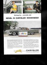 CHRYSLER 1959 REVEL IN CHRYSLER ROOMINESS 4 DOOR WINDSOR HIGHLAND GREEN AD