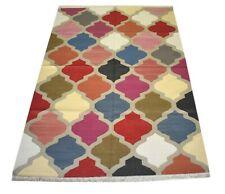 Handmade Cotton Geometric Vintage Rug 4'x 6' Feet Home Decorative Rug