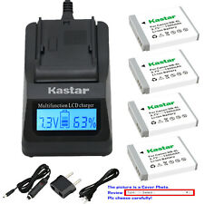Kastar Battery LCD Fast Charger for Canon NB-6LHH CB2LY Canon PowerShot SX500 IS