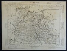 France Carte du Département du Puy de Dôme Atlas Tardieu 1832