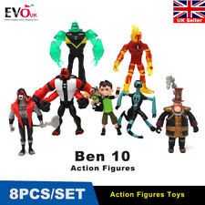 9pcs Ben 10 Action Figures Ben Tennyson Four Arms Grey Matter Heatblast PVC Toys
