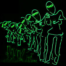 LED Neon EL Wire Tube Costumes Luminous Clothes Dancing DJ Nightclub Party Stage