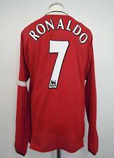 Manchester United Home Football Shirt Adult XL RONALDO #7 2004/2006 Long Sleeves
