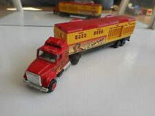 """Majorette US Truck  Trailer """"Circus Circus"""" in Red/Yellow"""