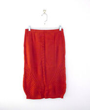 Sparrow Needled Paths Wool Orange Anthropologie Skirt Womens Size Medium Pilling