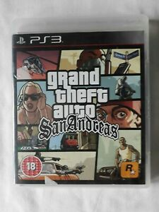 Grand Theft Auto San Andreas Playstation 3 Game PS3 Complete FREE SHIPPING