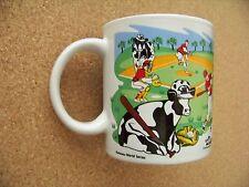 Cow Holstein World Series and Pasture SB Super Bowl ceramic mug coffee cup