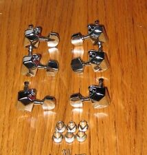 3 TO A SIDE GUITAR  MACHINE HEADS  TUNERS TUNING PEG ELECTRIC ACOUSTIC GEARED
