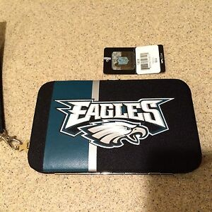 Philadelphia Eagles NFL Hard Wallet/Cell Phone Case  - New