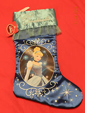 Cute DISNEY CINDERELLA CHRISTMAS STOCKING BLUE NEW