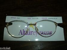 lot of 32 NEW ALTAIRE EYEWEAR EYEGLASSES FRAMES METAL BLUE FRANCE 51 17 135