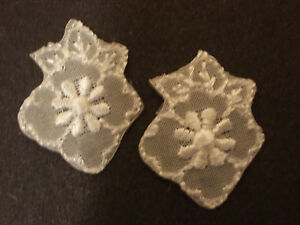 WHITE FLOWER-DAISY EMBROIDERY APPLIQUE PATCH EMBLEM LOT, HEAT-SEALED (60 DOZEN)