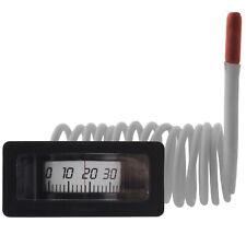 Rechteckig Thermometer Fernthermometer 1,5m waagrecht Einbau 120 Kessel Heizung