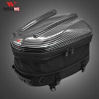 WOSAWE Motorcycle Rear Tail Bag Back Seat Helmet Bag Backpack Extended Luggage