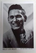 "ROCK N ROLL - Billy Lee Riley Sun Records Reproduced Autograph 6""X4"" Postcard"
