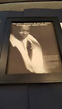Lou Rawls Groovy People Rare Original Promo Poster Ad Framed!