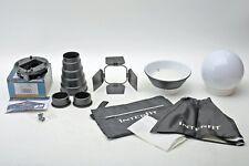 Interfit Strobies Portrait Set+SGM700 mount Canon 580EX-II+Softbox/Snoot++BEAUTY