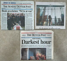 Newspaper 9/11/2001 + 2 others- Attack on America World Trade Center Denver Post