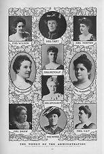 Femmes De The Administration Roosevelt Taft Wilson Hitchcock Fairbanks Morton