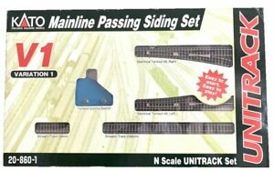 KATO UNITRACK V1 20-860-1 Mainline Passing Siding Set Pre Owned Never Used