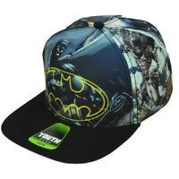 DC Comics Batman Youth Sublimated Hat Cap Snapback Hero Flat Bill Dark Knight