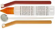 Pflegesatz Tonköpfe 2 Stäbchen gewinkelt 1 Spiegel 30ml Reinigungsflüssigkeit