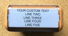 Personalized Custom 5 LINE RETURN ADDRESS SELF Inking Rubber Stamp - Orange