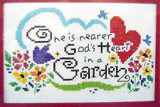 """NEW Bucilla Xpressions Counted Cross Stitch Kit """"Nearer God's Heart in a Garden"""""""