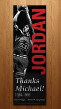 Michael Jordan 2 Sided Thanks Retirement street banner mayor Daley Chicago Bulls