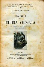 Ubaldi Paolo Colombo Sisto SAGGI DELLA BIBBIA VULGATA