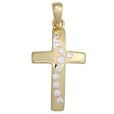 Religiöse Unisex Modeschmuck-Halsketten & -Anhänger mit Zirkonia-Hauptstein