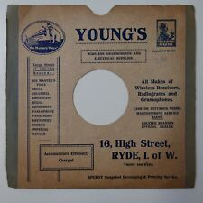 "10"" 78 rpm gramophone record sleeve YOUNG`S , RYDE ISLE OF WHITE"