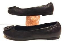 MICHAEL Michael Kors Ballet Womens Black Leather Flats SZ 8.5 Shoes Loafer EUC