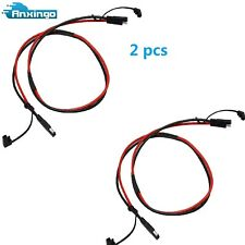 2pcs 2 Pin SAE-SAE Extension Cable for Battery Harness to Charger 10AWG 3Ft
