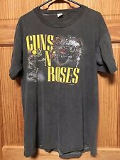 GUNS N' ROSES WAS HERE * BANNED 1987 TOUR XL T-SHIRT * RARE ROCK & ROLL SURVIVOR