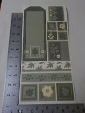 PEBBLES INC. TRADITIONS SAMPLER SAGE GREEN STICKERS SCRAPBOOKING A3110