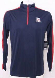 NEW University Of Arizona Wildcats Colosseum Blue LS 1/4 Zip Sweatshirt Men's L