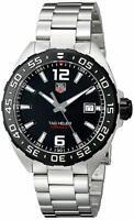 TAG HEUER WAZ1110.BA0875 Formula One Black Dial Silver Tone Men's Wrist Watch