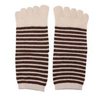 Chaussettes à cinq boutons de doigt à rayures Toe Chaussettes à gazon