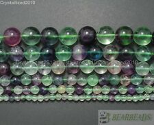 Natural Rainbow Fluorite Gemstone Round Beads 4mm 6mm 8mm 10mm 12mm 14mm 15.5""