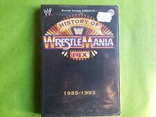 HISTORY OF WRESTLEMANIA 1985-1993  pc dvd ROM gioco game nuovo sigillato