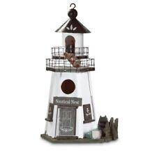 Birdhouse Lighthouse 2 Tier Nesting House Decor Outdoor Yard Garden Nautical New