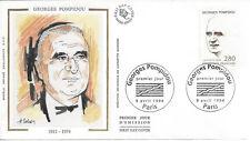 ENVELOPPE 1er JOUR SOIE FDC 1994 - N° 2875 - GEORGES POMPIDOU