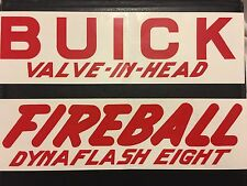 1950 1951 BUICK VALVE IN HEAD FIREBALL DYNAFLASH EIGHT ENGINE VALVE COVER DECALS
